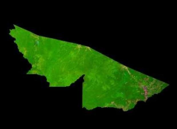 Imagen, Foto Satelite del Estado de Acre, Brasil