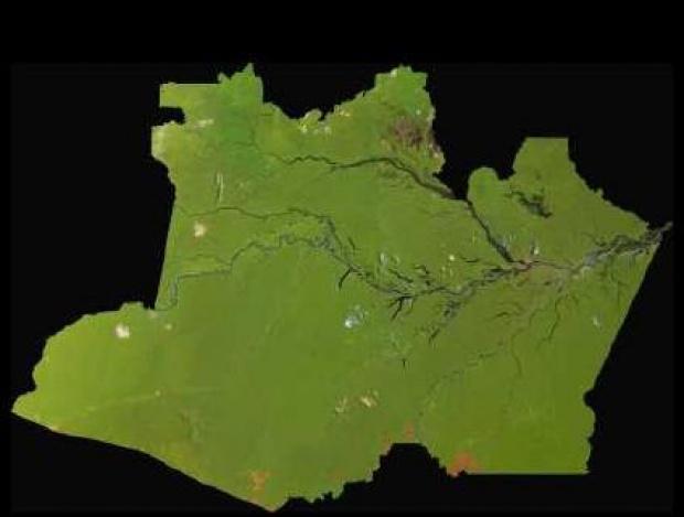 Imagen, Foto Satelite del Estado de Amazonas, Brasil