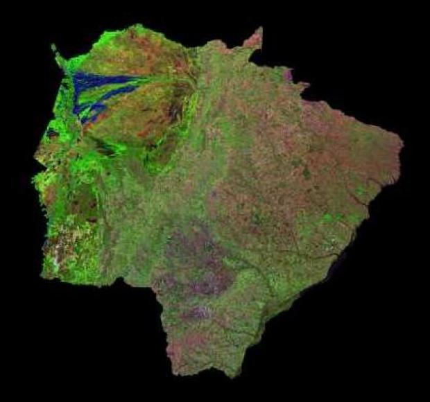 Imagen, Foto Satelite del Estado de Mato Grosso do Sul, Brasil