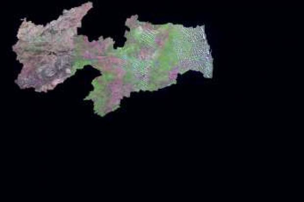 Imagen, Foto Satelite del Estado de Paraíba, Brasil