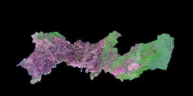Imagen, Foto Satelite del Estado de Pernambuco, Brasil