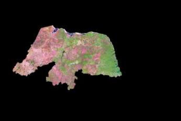Imagen, Foto Satelite del Estado de Rio Grande do Norte, Brasil