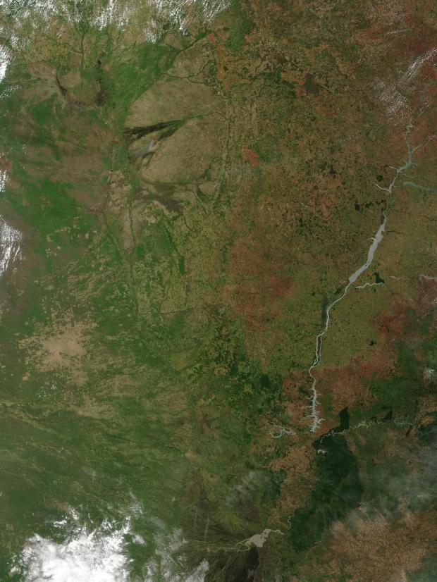 Imagen, Foto Satelite del Este de Paraguay