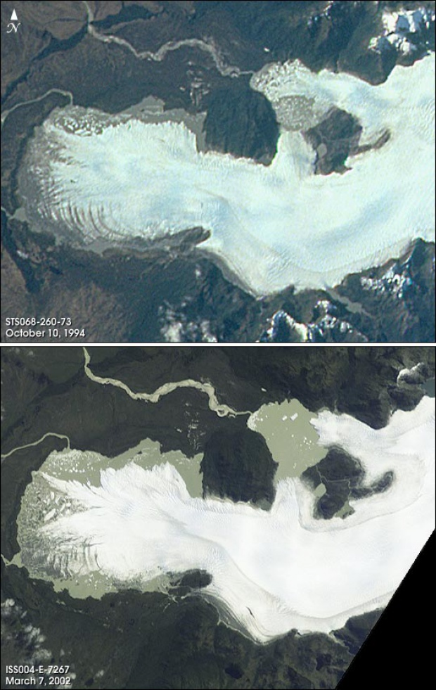 Satellite Image, Photo of San Quintín Glacier Northern Patagonia, Chile