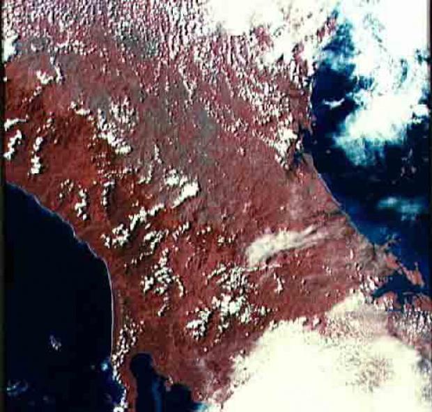 Imagen, Foto Satelite del Istmo de Panamá