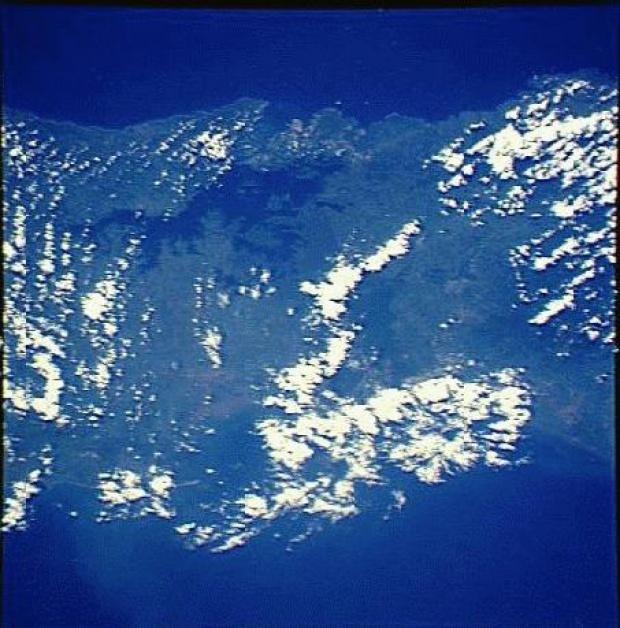 Imagen, Foto Satelite del Lago Gatun, Panamá