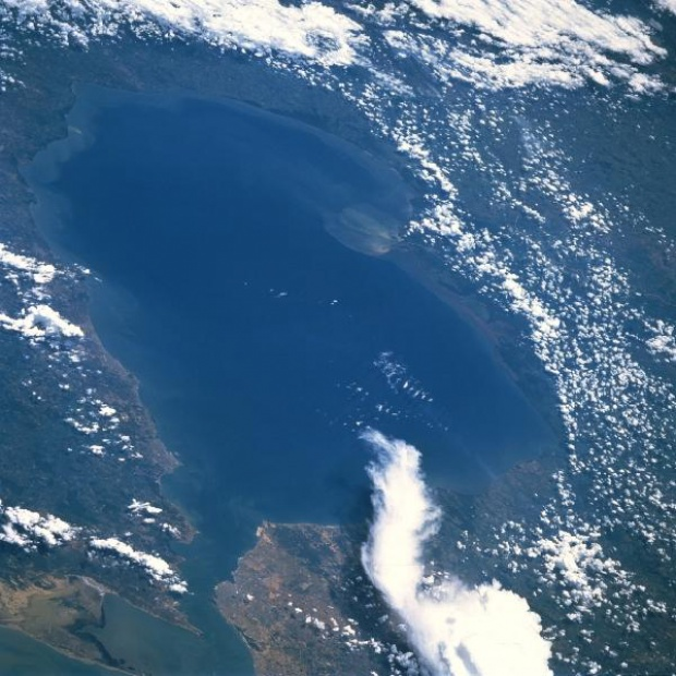 Satellite Image, Photo of Lake Maracaibo, Venezuela