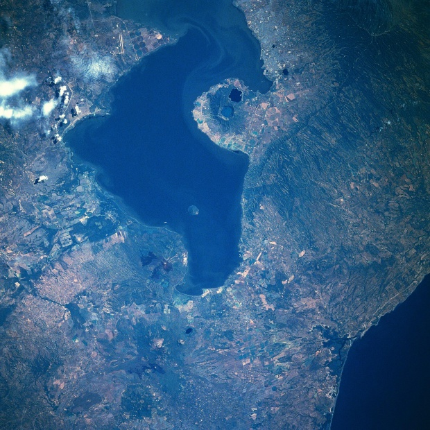 Imagen, Foto Satelite del Lago de Managua, Nicaragua