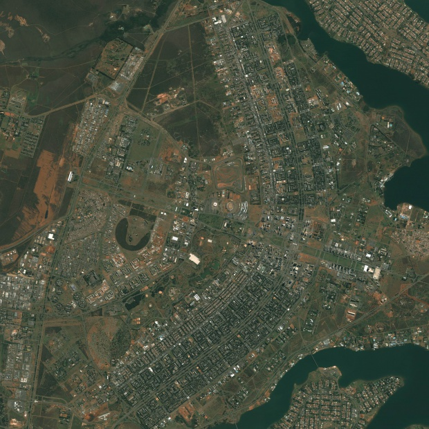 Imagen, Foto Satelite del Plano Piloto de Brasilia, Brasil