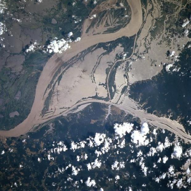 Imagen, Foto Satelite del Rio Amazonas, Estado de Pará (Este), Brasil
