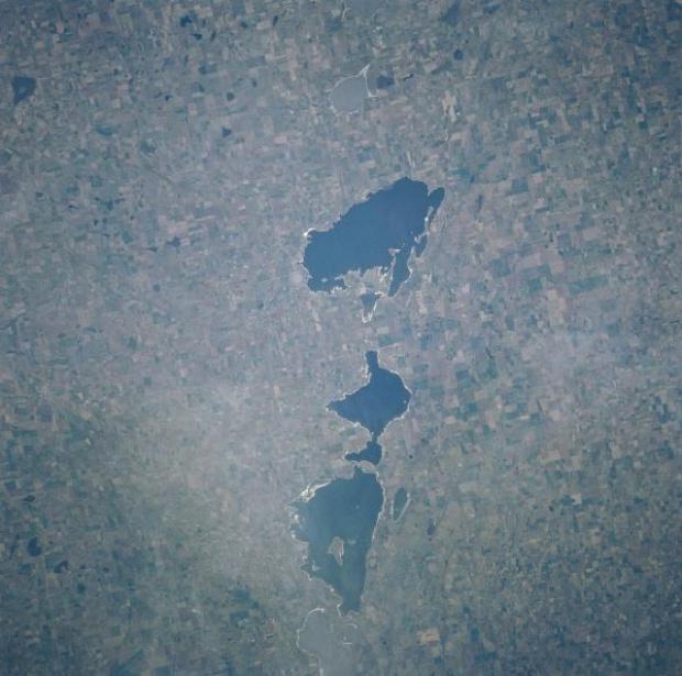 Imagen, Foto Satelite del Rio Cuarto Craters, Argentina