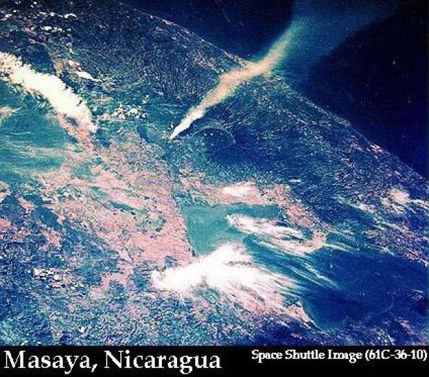 Imagen, Foto Satelite del Volcan Santiago, Nicaragua