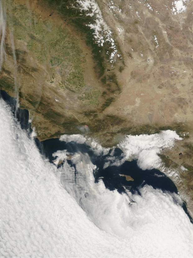 Incendio Wolf al oeste de Los Angeles, California