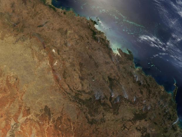 Incendio forestal en Queensland, Australia