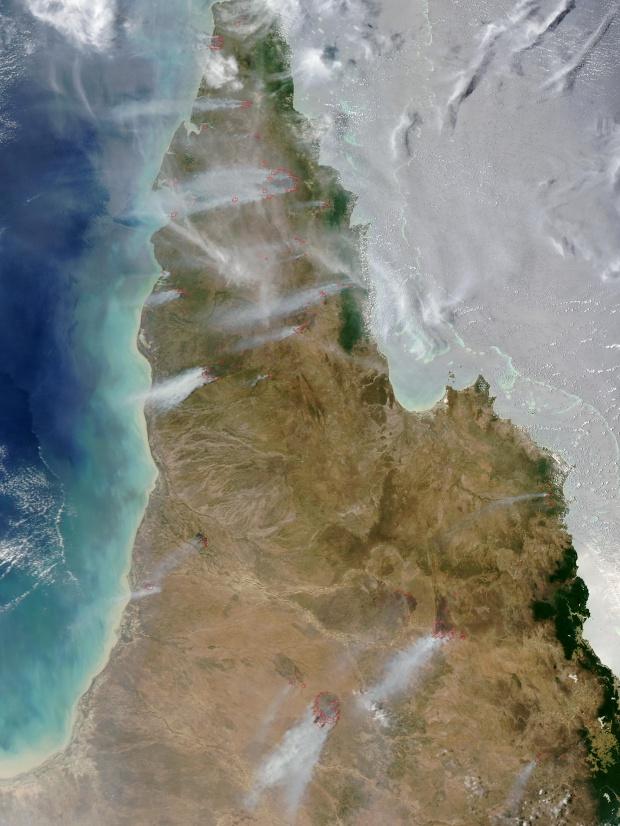 Incendios a través de la Península del Cabo York, Australia