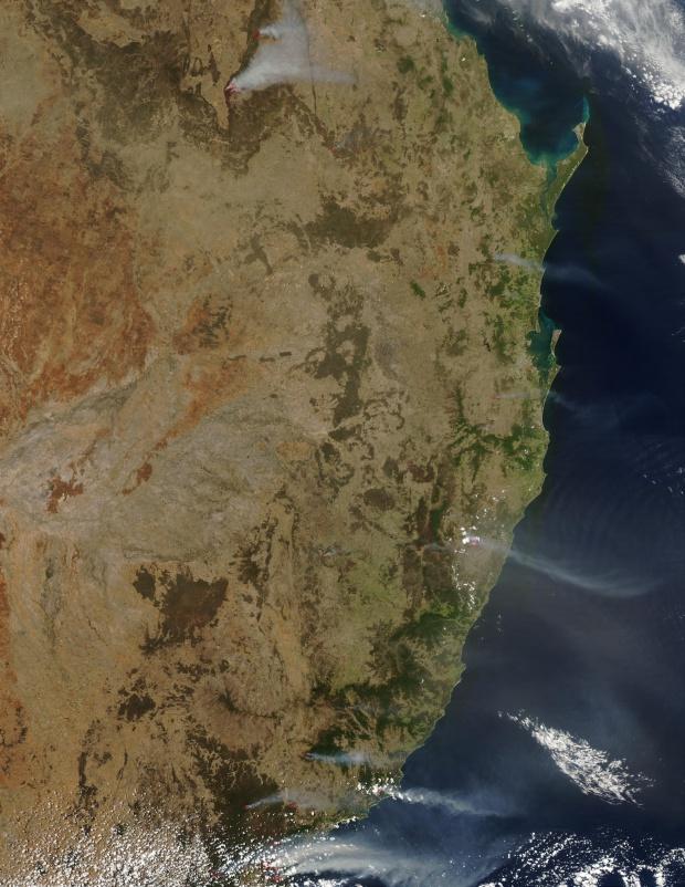 Fires in Eastern Australia
