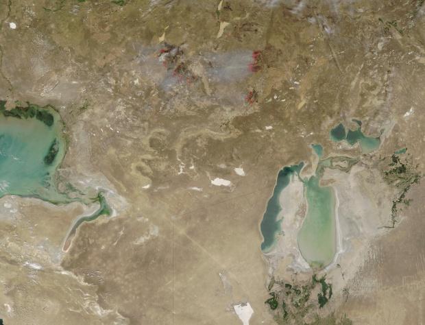 Fires in western Kazakhstan