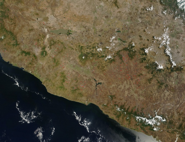 Fires in southern Mexico