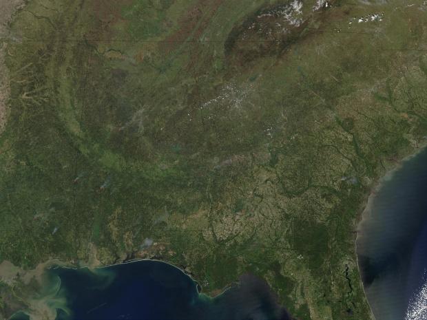 Incendios en el sureste de Estados Unidos