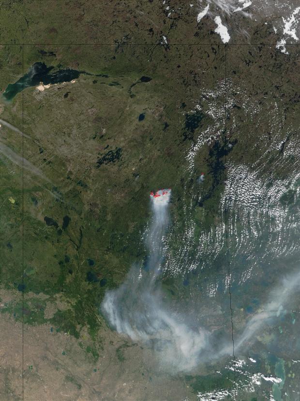Incendios en las provincias de las praderas de Canadá