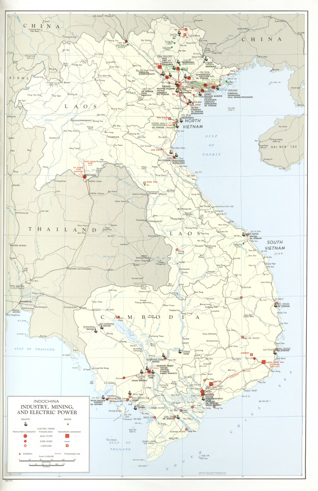 Indochina Industry Mining and Electric Power Map