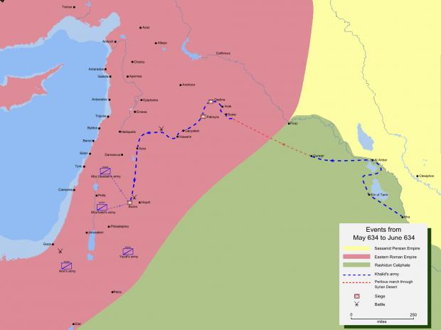 Khalid ibn Walid's invasion of Syria 634