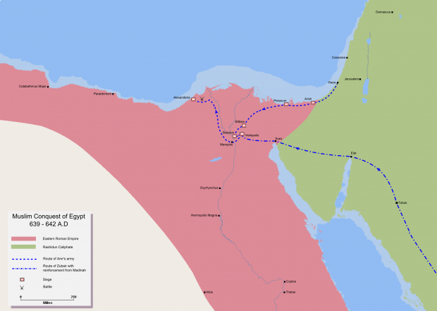 Muslim conquest of Egypt 639-642