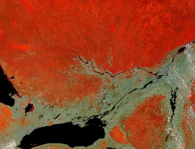 Lago Ontario, río San Lorenzo y río Ottawa, Canadá