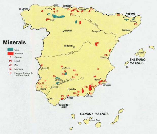 Los Minerales de España 1974