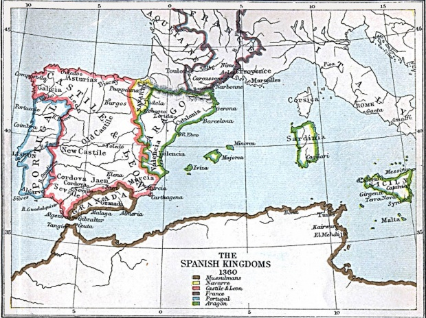 The Spanish Kingdoms 1360 A.D.