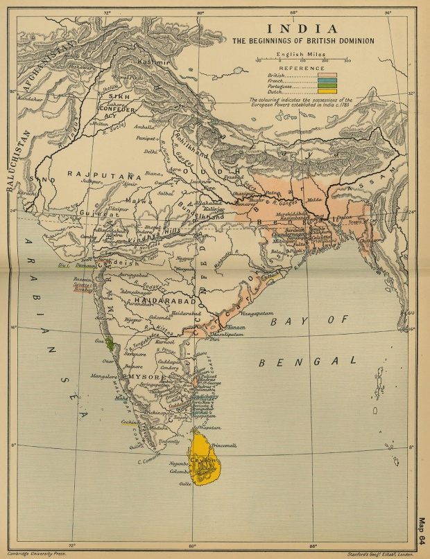 Los comienzos de la dominación británica en India 1783