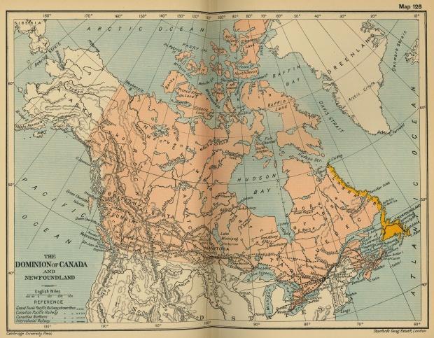 Los dominios de Canadá y Terranova 1912