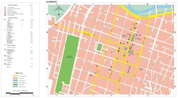 Mapa Acambaro, Guanajuato, Mexico