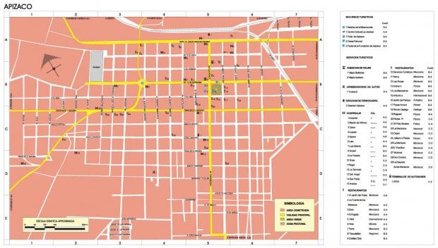 Mapa Apizaco, Tlaxcala, Mexico