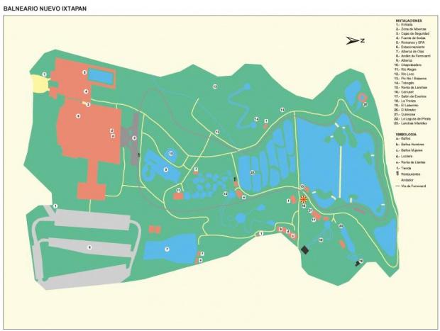 Mapa Balneario Nuevo Ixtapan, Estado de Mexico