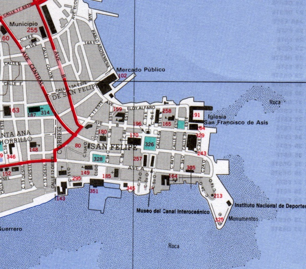 Mapa Casco Viejo, Ciudad de Panamá