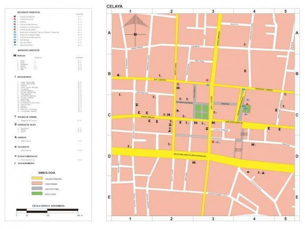 Mapa Celaya, Guanajuato, Mexico