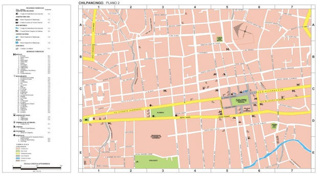 Mapa Chilpancingo (Centro), Guerrero, Mexico