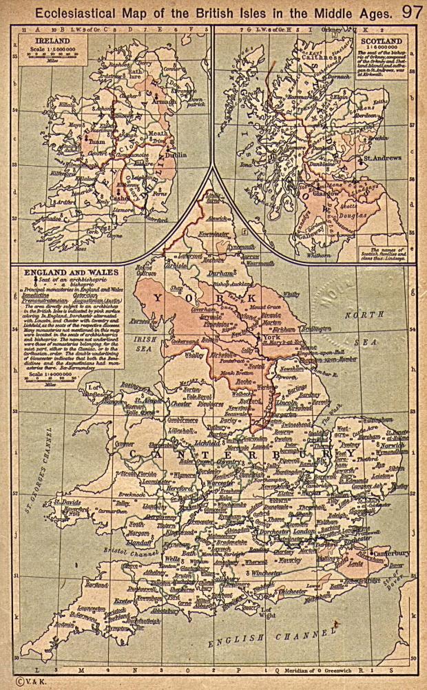 Mapa Eclesiástico de las Islas Británicas