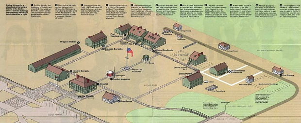 Mapa Esquema del Sitio Histórico Nacional Fort Scott, Kansas, Estados Unidos