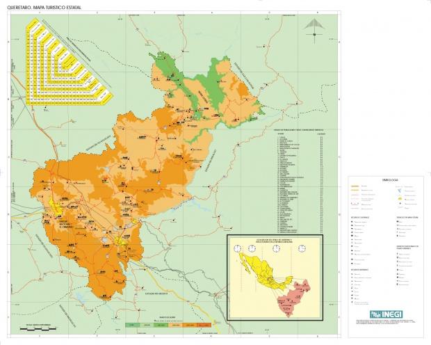 Mapa Estado de Queretaro, Mexico