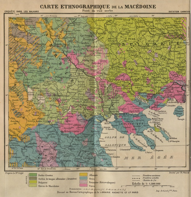 Ethnographic Map of Macedonia 1914