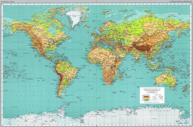 Mapa Físico del Mundo 1970