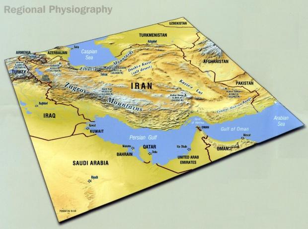 Mapa Fisiografico de Irán