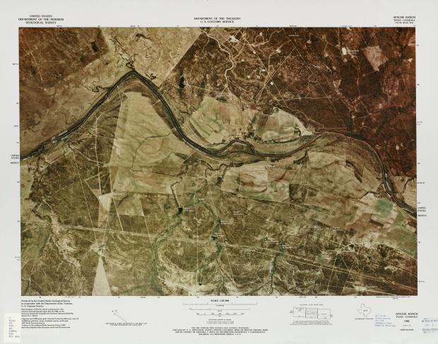 Mapa Fronterizo de México-Estados Unidos, Apache Ranch 1982