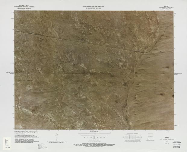 Mapa Fronterizo de México-Estados Unidos, Arena 1979