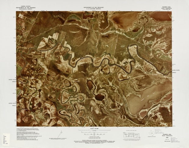 Mapa Fronterizo de México-Estados Unidos, Cerro Palmito 1983