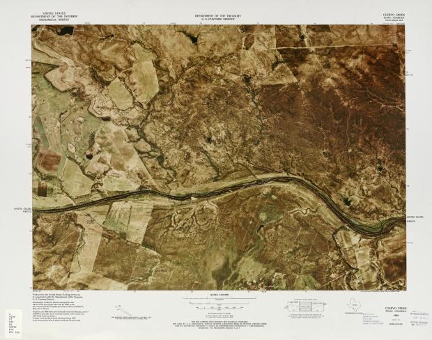 United States-Mexico Border Map, Cuervo Creek
