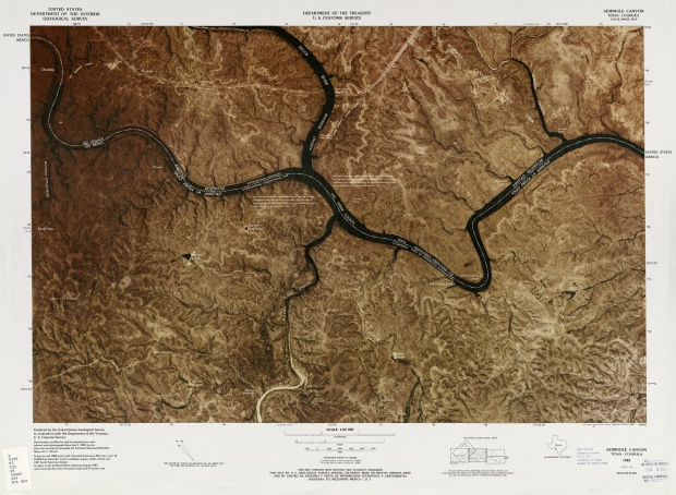 Mapa Fronterizo de México-Estados Unidos, Seminole Canyon 1982
