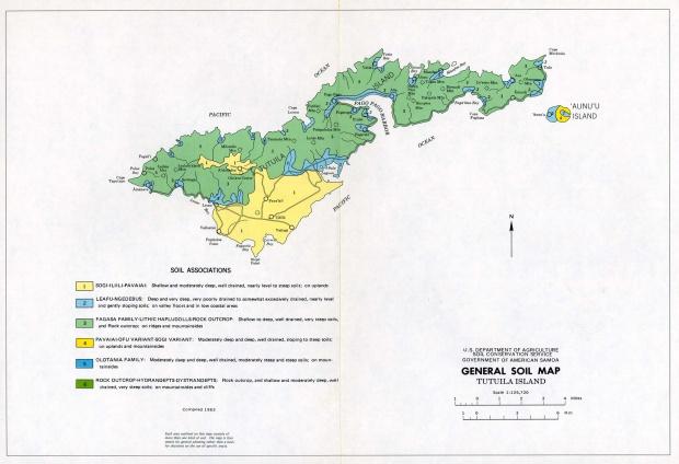 Tutuila Island General Soil Map, American Samoa